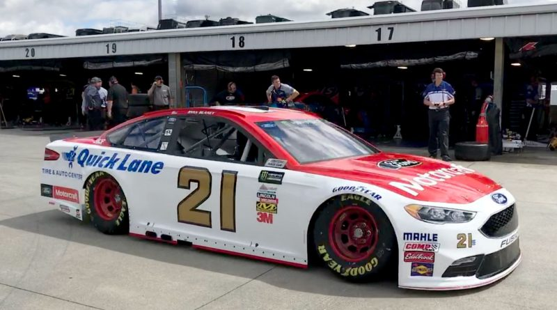 Ryan Blaney No. 21 Wood Brothers at Martinsville Speedway 2017