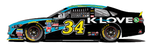No. 34 Michael McDowell, K-Love Sponsor